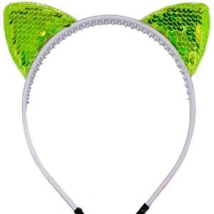 Neon Green Halloween Cat Ears